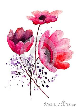 Belles fleurs rouges