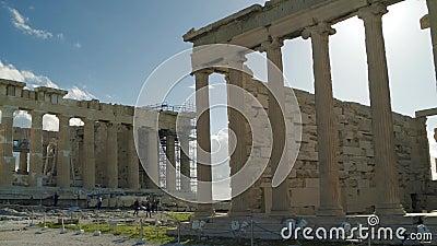 Belles ruines du grec ancien banque de vidéos