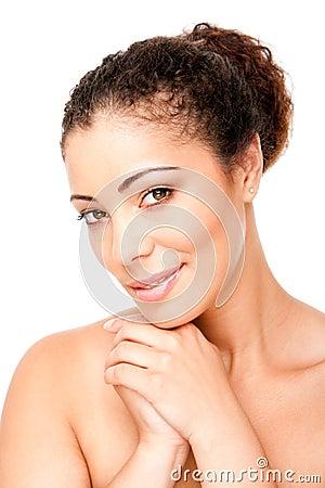 Belleza clara de la piel