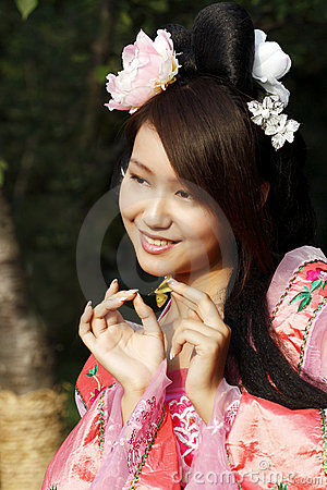 Bellezza classica in Cina.