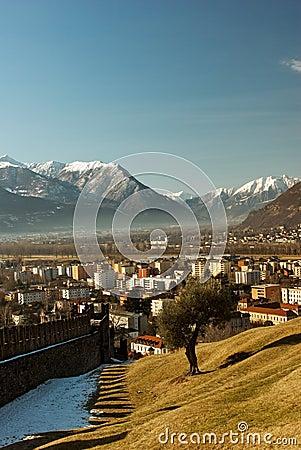 Free Bellinzona View Royalty Free Stock Photo - 48905675