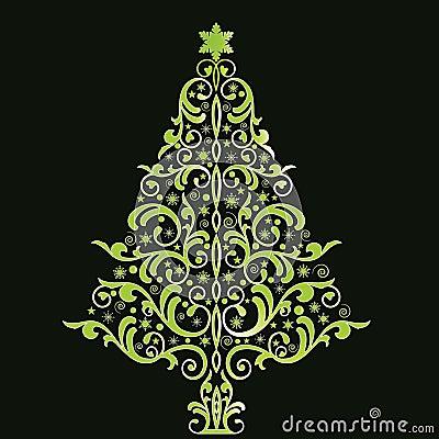 Bello albero di natale stilizzato fotografia stock for Immagini natale stilizzate