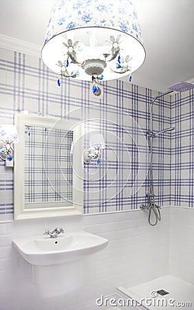 Bello Bagno Blu E Bianco Fotografia Stock - Immagine: 42920348