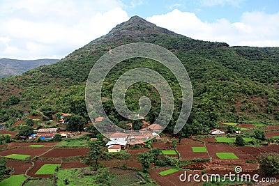 Bello villaggio indiano