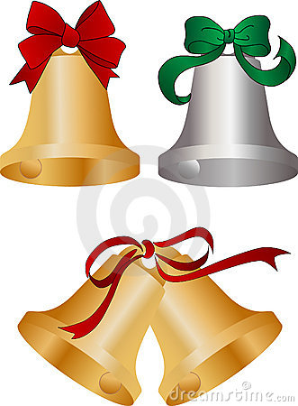 Bells with ribbons