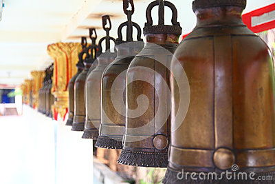 Bells row in Thailand temple
