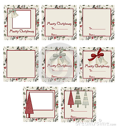 Bells & Trees Christmas Gift Tags