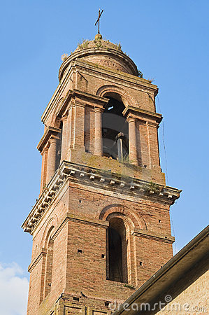 Belltower Church. Citta  della Pieve. Umbria.