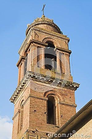 Belltower Church. Citta  della Pieve. Umbria.