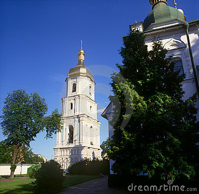 Belltower of St. Sophia cathedral. Kyiv, Ukraine.