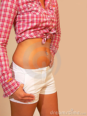 Free Belly Button Jewelry. Stock Photo - 3665030