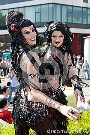 Belly dance girls at Wave Gothic Treffen Editorial Image