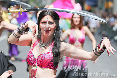 Belly Dancer Editorial Photo
