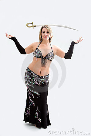 Belly dancer in black