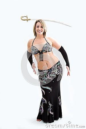 Belly dancer in black