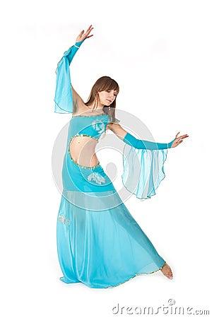 Belly Dancer in a blue