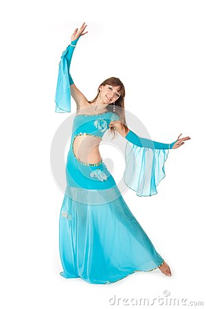Belly Dancer in a blue