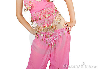Belly dancer. Close-up