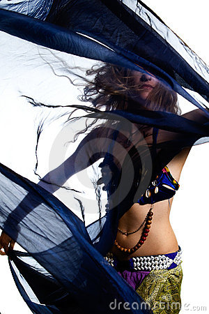 Belly dancer in costume