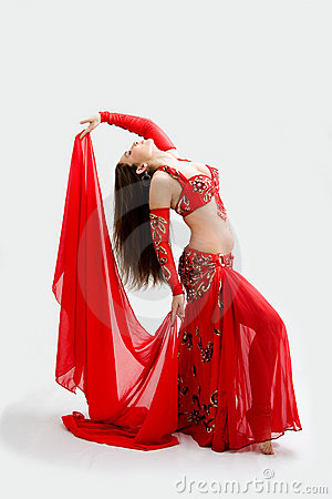Free Belly Dancer In Red Royalty Free Stock Image - 7259756