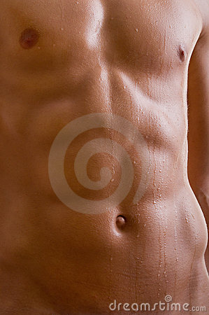 Free Belly Naked Male Body Royalty Free Stock Photography - 21671907