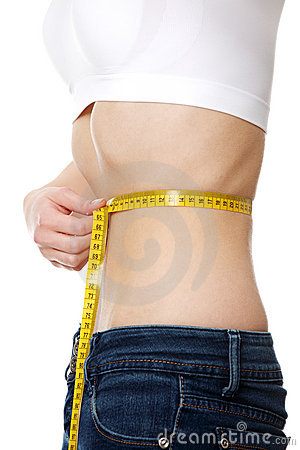 Free Belly Of Beautiful Young Female With Anorexia Royalty Free Stock Images - 17729089