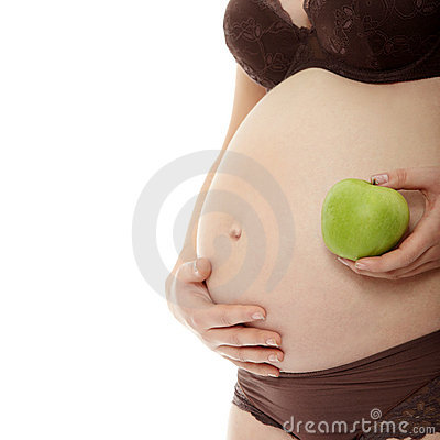 Belly of a pregnant woman