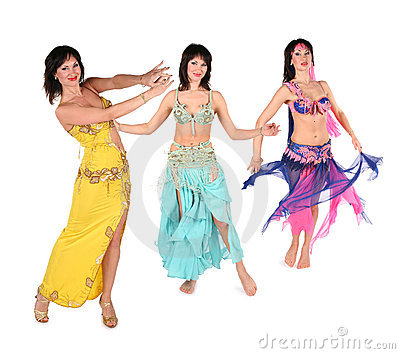 Bellydance woman group