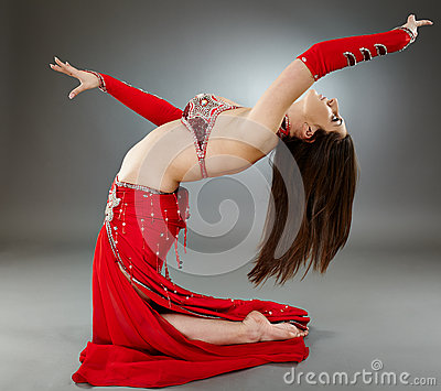 Bellydancer in action