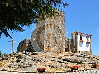 Old medieval Belmonte castle in Portugal