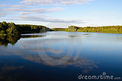 Belorussian azure lake