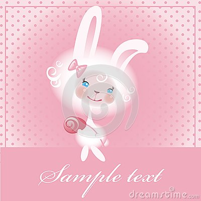 Beloved bunny with a rose