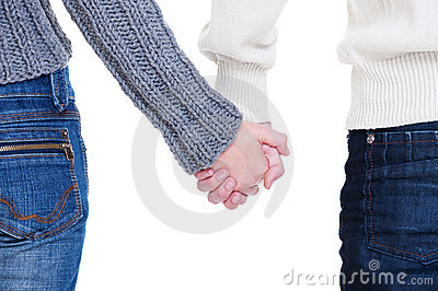 Beloved couple holding hands