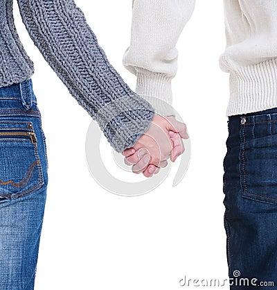 Beloved couple holding hands