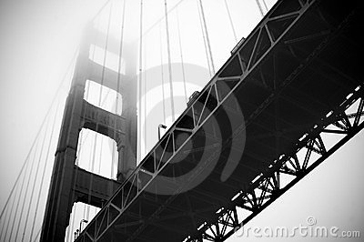 Below the Golden Gate Bridge