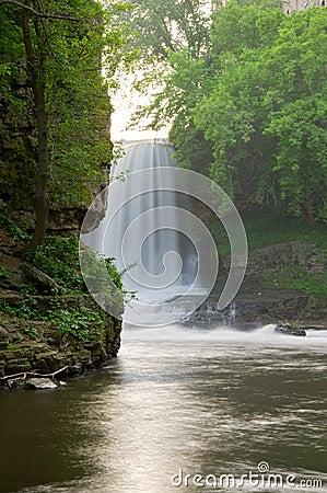 Below Vermillion Falls in Hastings Minnesota
