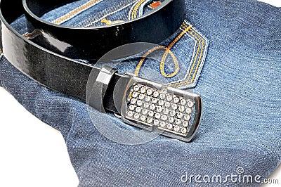Belt on jean