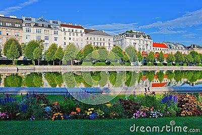 Belvedere garden in Vienna, Austria