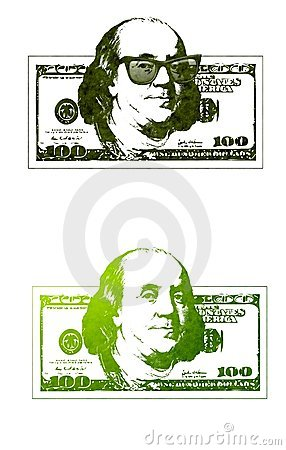 Ben 100 rachunki schłodzić Franklin dolarów