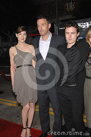 Ben Affleck, Casey Affleck, Michelle Monaghan Editorial Stock Photo