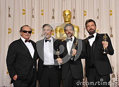 Ben Affleck,George Clooney Editorial Stock Photo