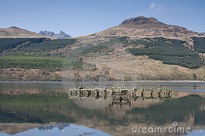 Ben Arthur (The Cobbler) from Loch Long, Arrochar,