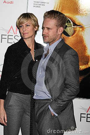 Ben Foster, Robin Wright Editorial Photo