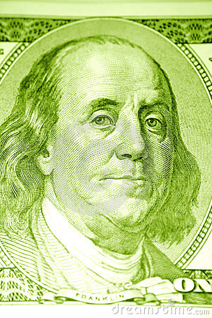 Ben Franklin on the $100 bill