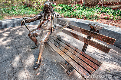 Ben Franklin on a Bench