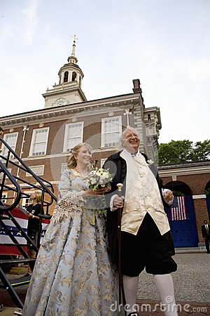 Ben Franklin and Betsy Ross actors Editorial Photography