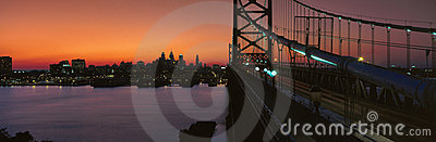 Ben Franklin Bridge Editorial Stock Photo