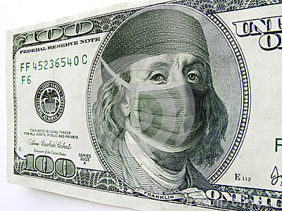 Ben Franklin Wearing Healthcare Mask on One Hundre