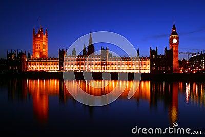 Ben grande y las casas del parlamento, Londres