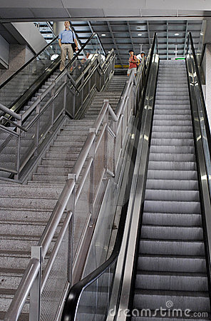 Ben Gurion Airport Escalators, Terminal 3 Editorial Photography